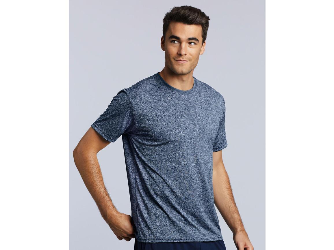 Gildan Performance Adult Core T-Shirt, Heather Sport Dark Navy, L bedrucken, Art.-Nr. 011092135