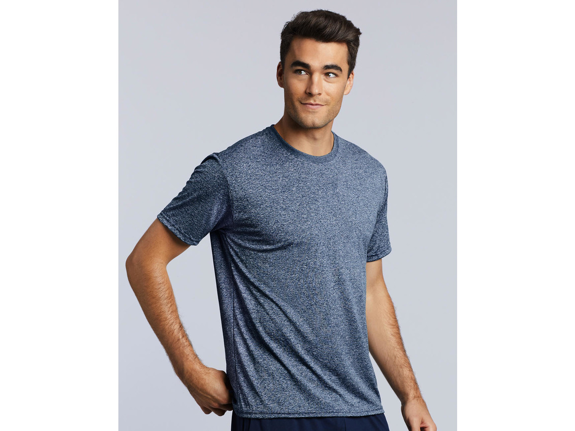 Gildan Performance Adult Core T-Shirt, Heather Sport Dark Navy, S bedrucken, Art.-Nr. 011092133