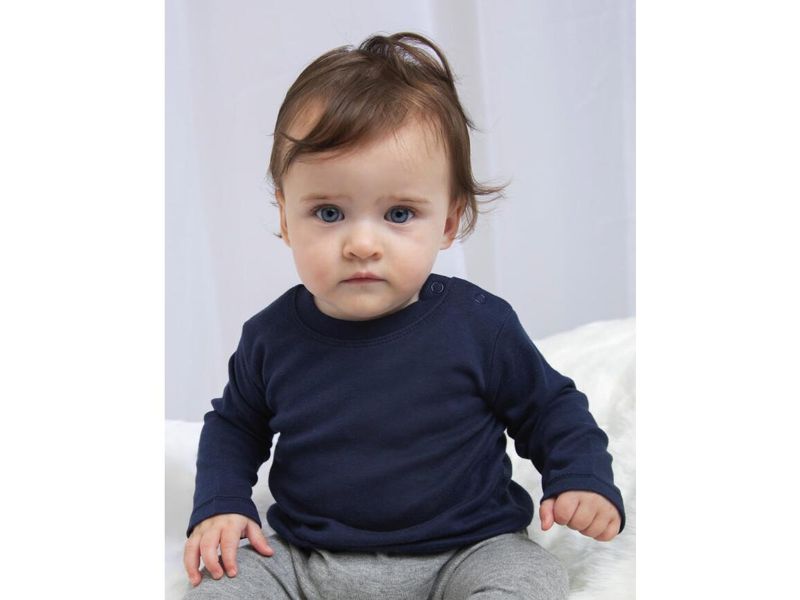 BabyBugz Baby Longsleeve Top, Heather Grey Melange, 12-18 bedrucken, Art.-Nr. 011471264