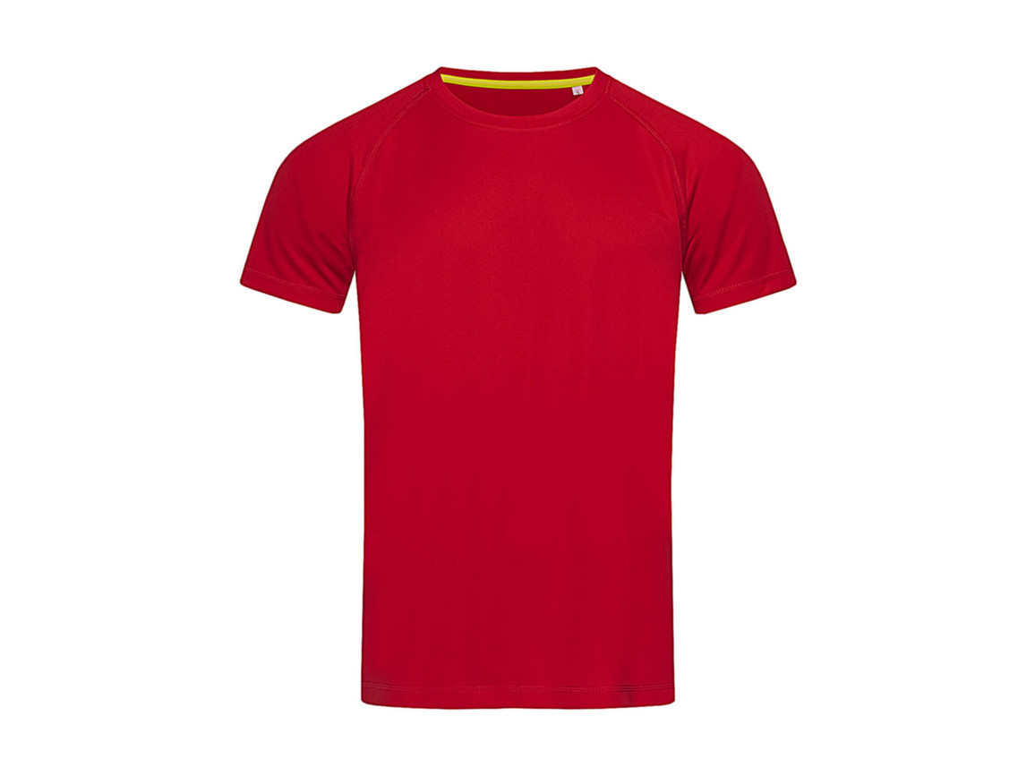 Stedman Active 140 Raglan Men, Crimson Red, S bedrucken, Art.-Nr. 012054413