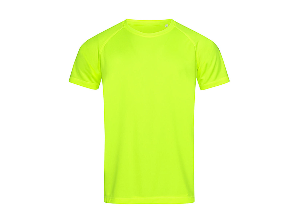 Stedman Active 140 Raglan Men, Cyber Yellow, M bedrucken, Art.-Nr. 012056064