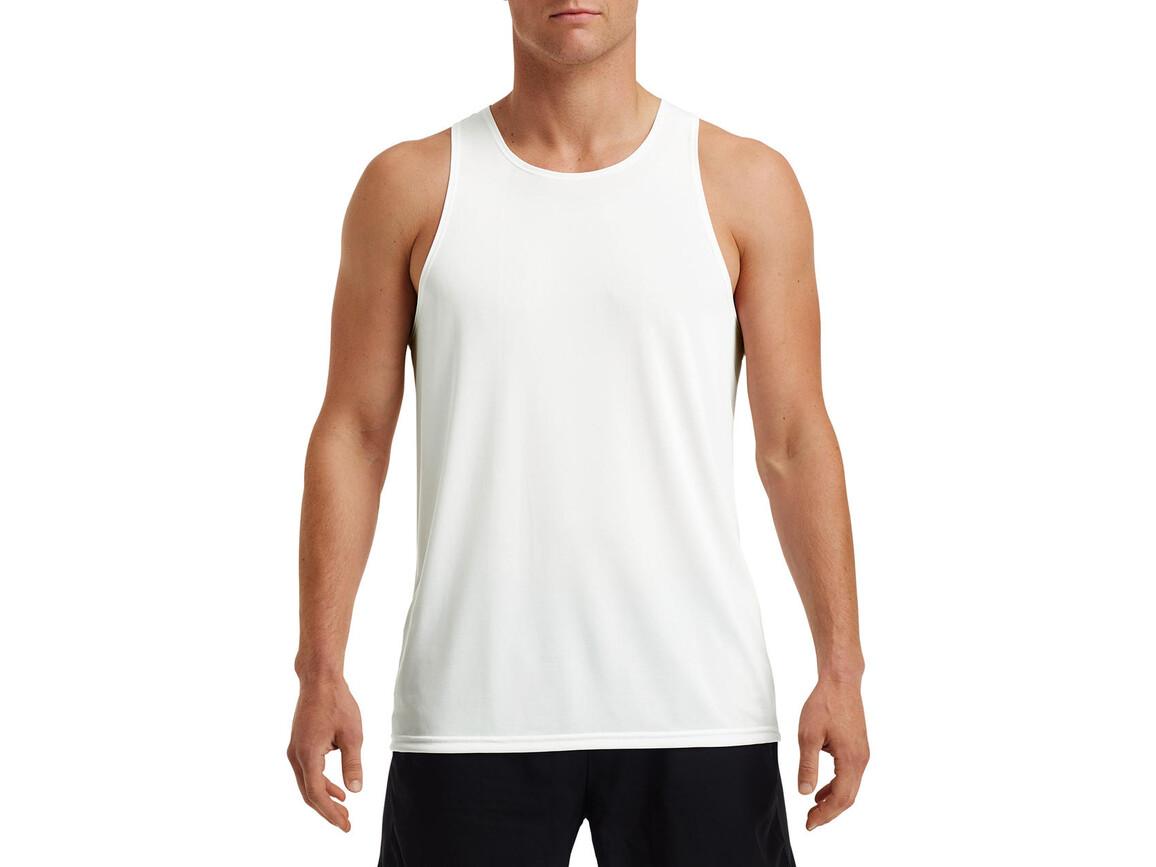 Gildan Performance® Adult Singlet, White, L bedrucken, Art.-Nr. 012090005