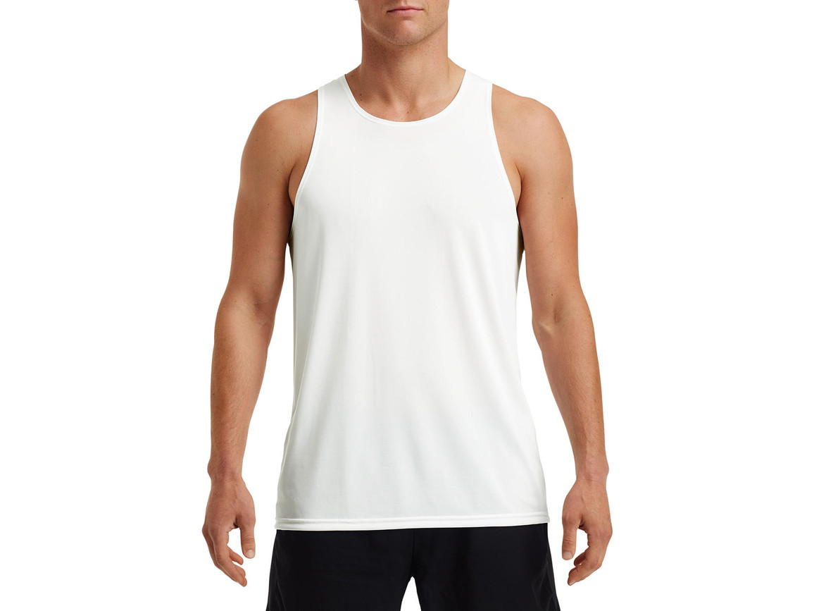 Gildan Performance® Adult Singlet, White, L bedrucken, Art.-Nr. 012090005