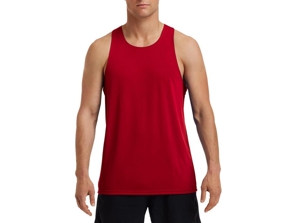 Gildan Performance® Adult Singlet, Sport Scarlet Red, XL bedrucken, Art.-Nr. 012094156