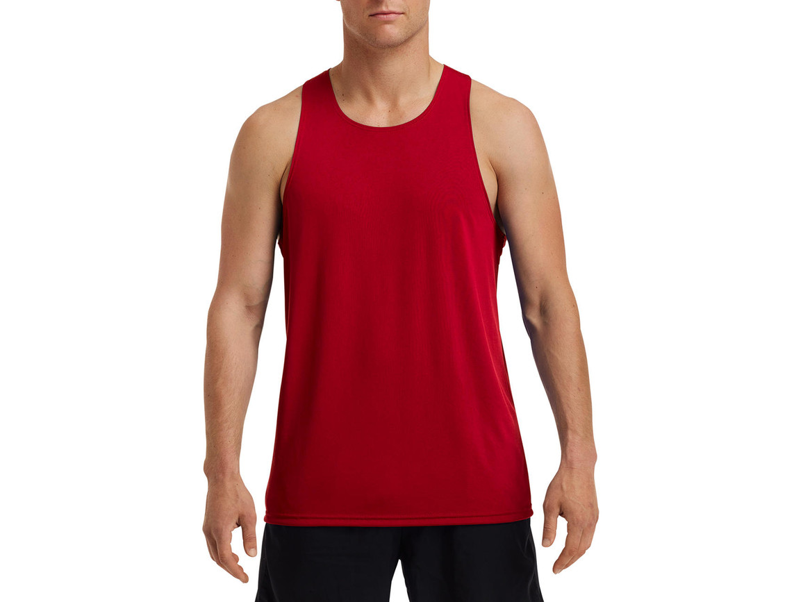 Gildan Performance® Adult Singlet, Sport Scarlet Red, S bedrucken, Art.-Nr. 012094153