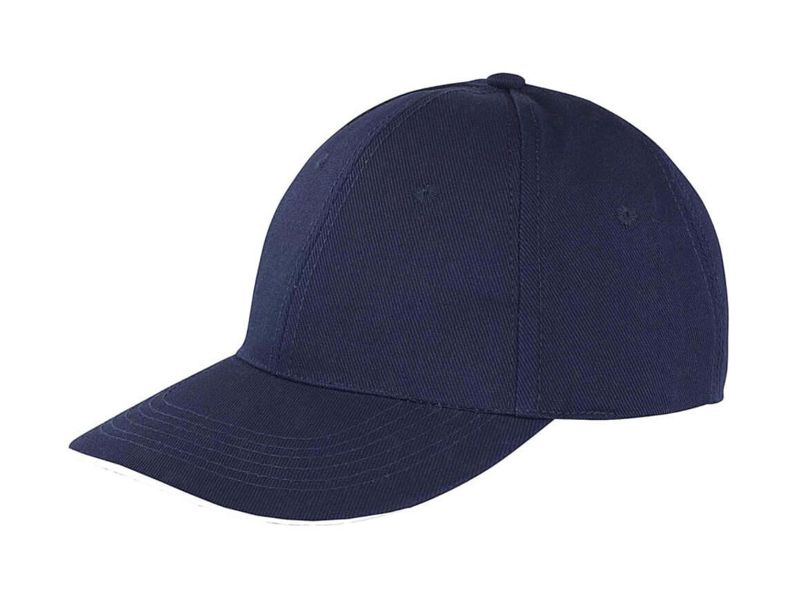 Result Caps Memphis Low Profile Sandwich Peak Cap, Navy/White, One Size bedrucken, Art.-Nr. 012342520