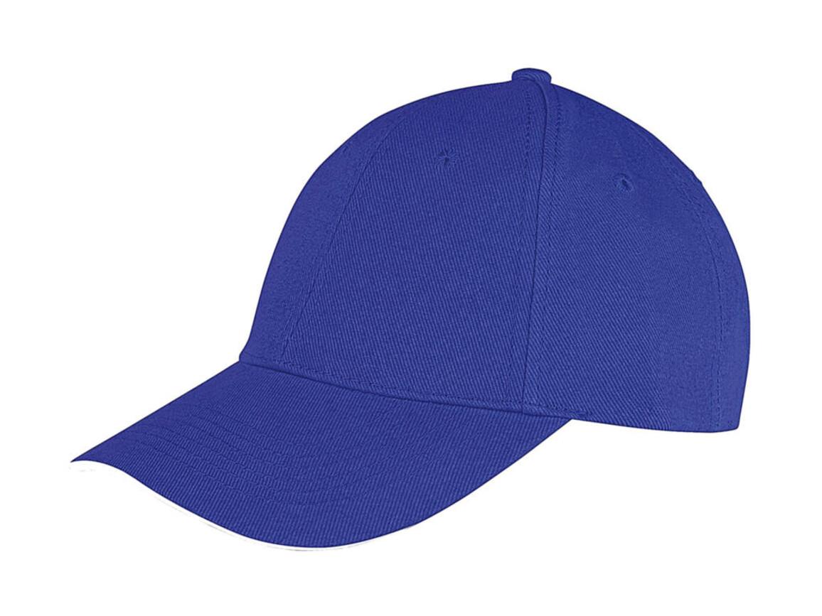 Result Caps Memphis Low Profile Sandwich Peak Cap, Royal/White, One Size bedrucken, Art.-Nr. 012343530
