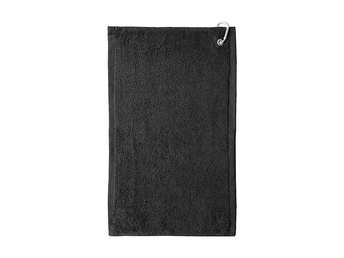 Jassz Towels Thames Golf Towel 30x50 cm, Black, One Size bedrucken, Art.-Nr. 012641010