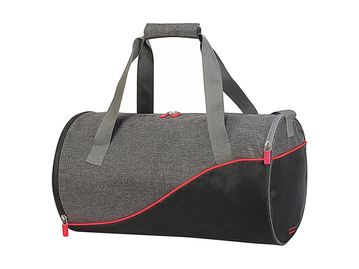 Shugon Andros Daily Sports Bag, Grey Melange/Black/Red, One Size bedrucken, Art.-Nr. 013381890