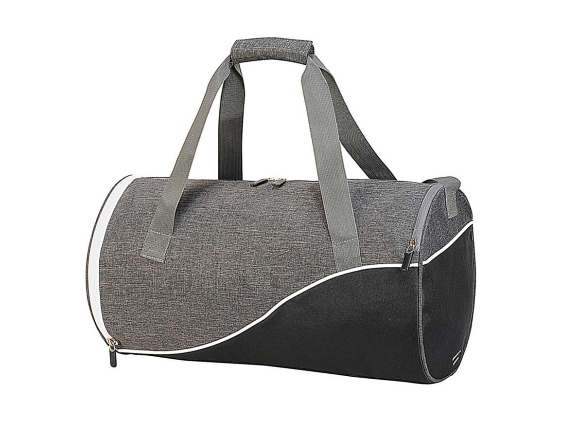 Shugon Andros Daily Sports Bag, Grey Melange/Black/White, One Size bedrucken, Art.-Nr. 013381970