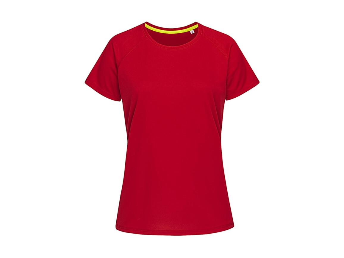 Stedman Active 140 Raglan Women, Crimson Red, XL bedrucken, Art.-Nr. 014054416