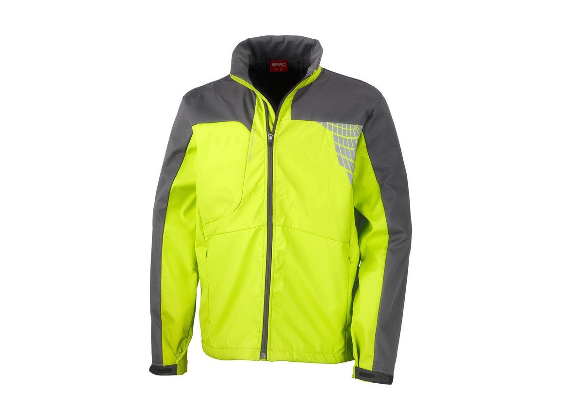 Result Men`s Team Soft Shell Jacket, Lime/Grey, XL bedrucken, Art.-Nr. 014335556
