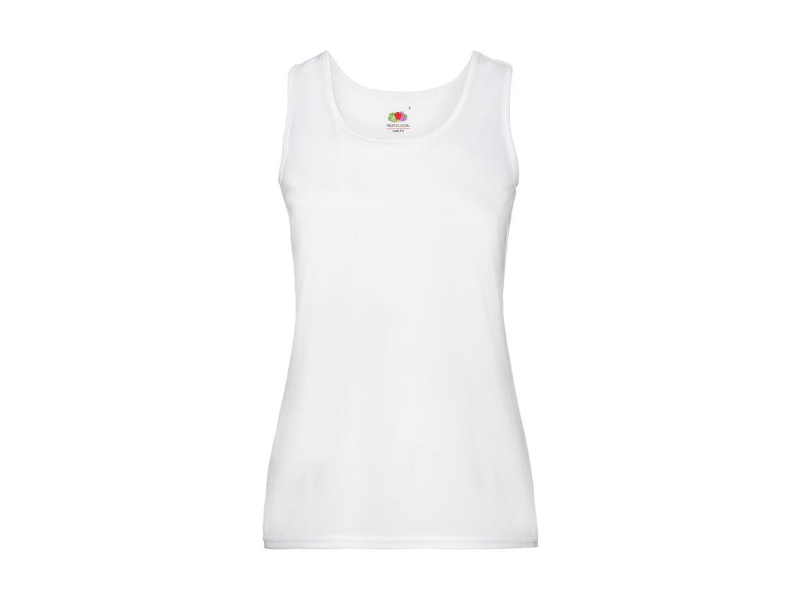 Fruit of the Loom Ladies` Performance Vest, White, L bedrucken, Art.-Nr. 015010005