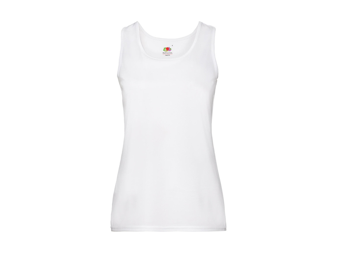 Fruit of the Loom Ladies` Performance Vest, White, XL bedrucken, Art.-Nr. 015010006