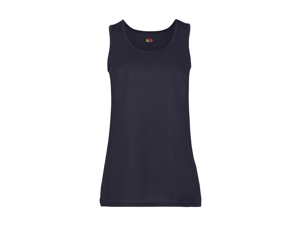 Fruit of the Loom Ladies` Performance Vest, Deep Navy, XL bedrucken, Art.-Nr. 015012026