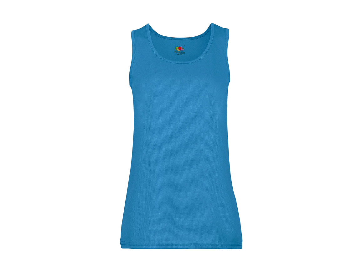 Fruit of the Loom Ladies` Performance Vest, Azure Blue, 2XL bedrucken, Art.-Nr. 015013107