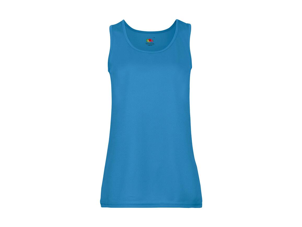 Fruit of the Loom Ladies` Performance Vest, Azure Blue, L bedrucken, Art.-Nr. 015013105
