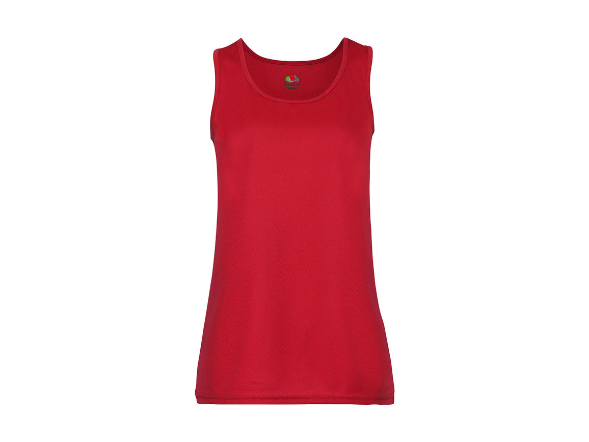 Fruit of the Loom Ladies` Performance Vest, Red, XL bedrucken, Art.-Nr. 015014006
