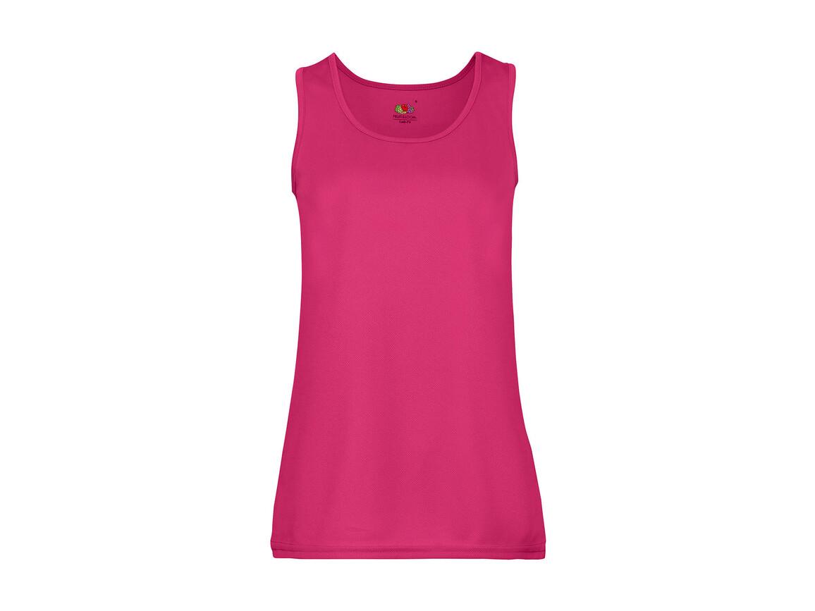 Fruit of the Loom Ladies` Performance Vest, Fuchsia, XL bedrucken, Art.-Nr. 015014396