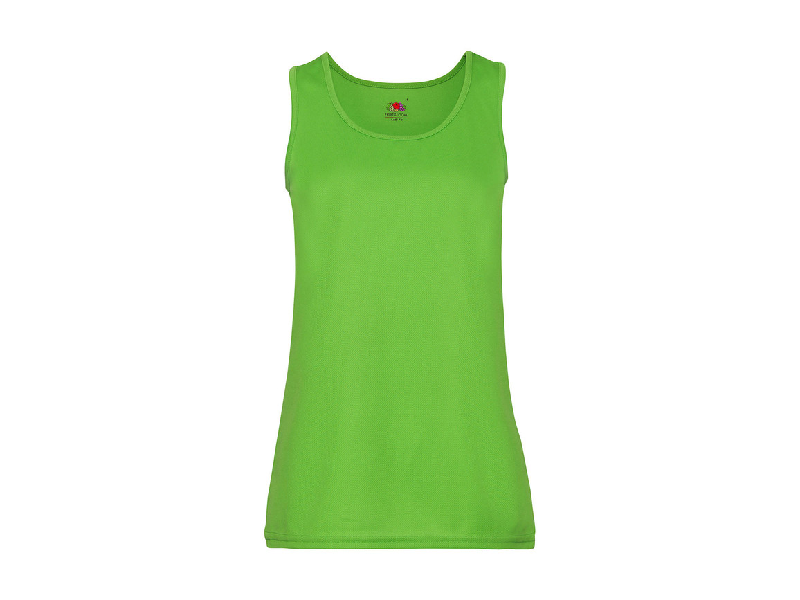 Fruit of the Loom Ladies` Performance Vest, Lime Green, 2XL bedrucken, Art.-Nr. 015015217