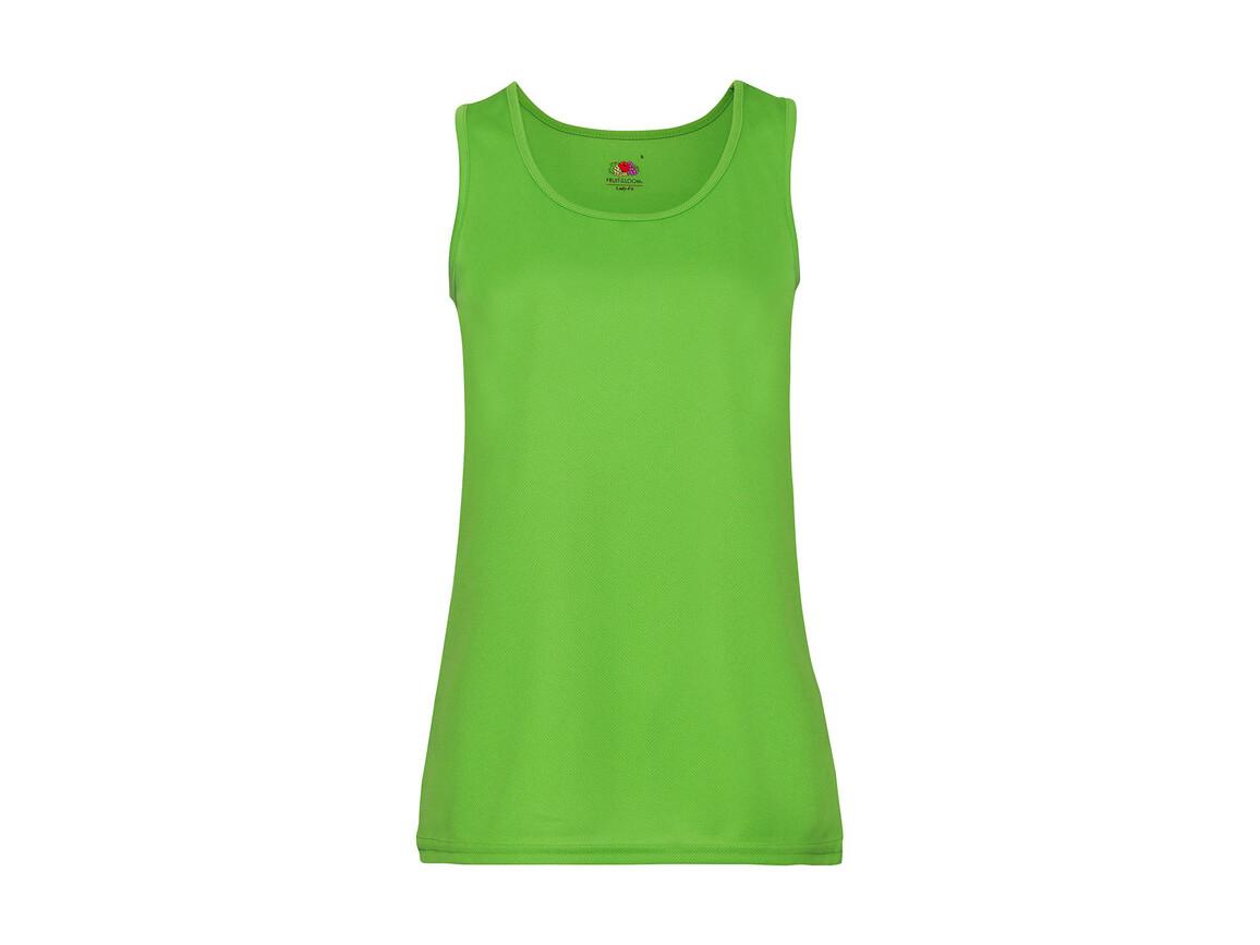 Fruit of the Loom Ladies` Performance Vest, Lime Green, M bedrucken, Art.-Nr. 015015214