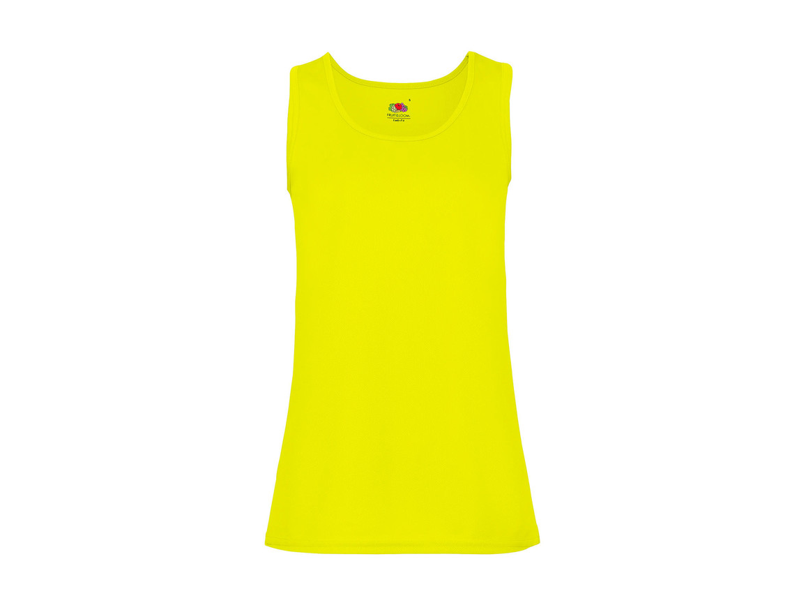 Fruit of the Loom Ladies` Performance Vest, Bright Yellow, 2XL bedrucken, Art.-Nr. 015016027