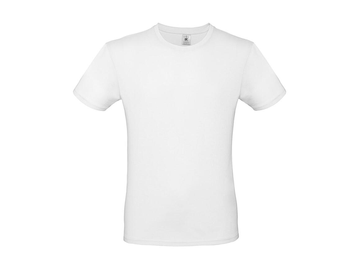 B & C #E150 T-Shirt, White, M bedrucken, Art.-Nr. 015420002