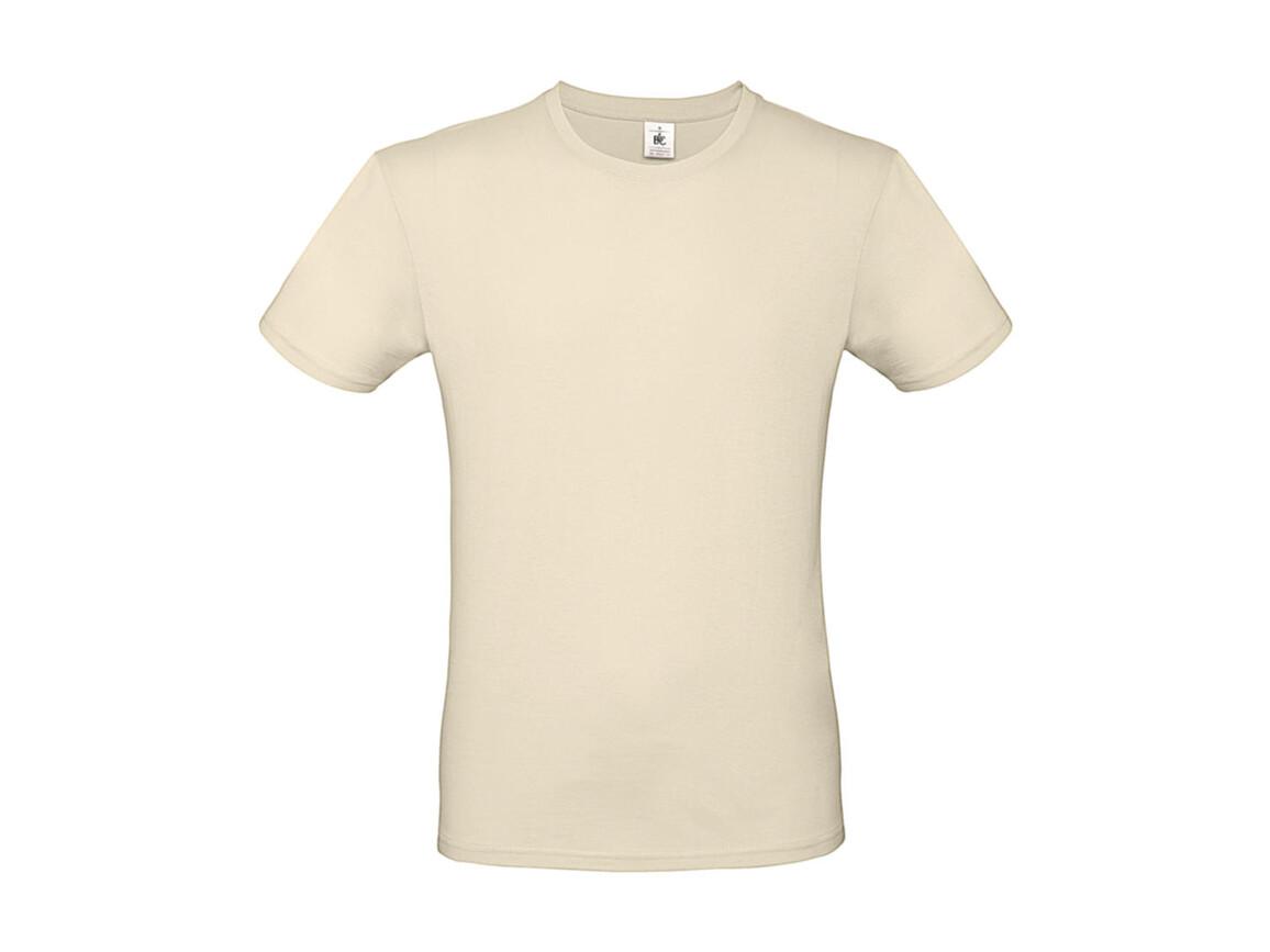 B & C #E150 T-Shirt, Natural, L bedrucken, Art.-Nr. 015420083