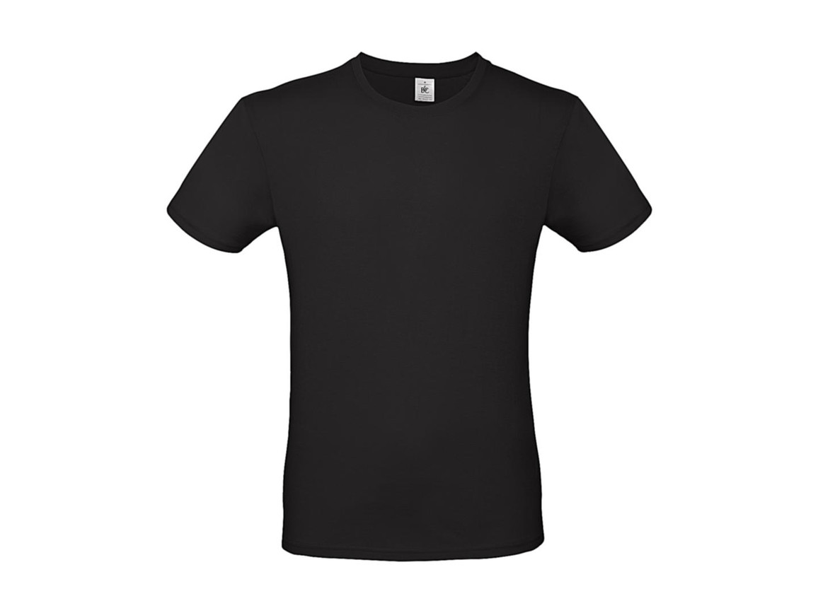 B & C #E150 T-Shirt, Black, XL bedrucken, Art.-Nr. 015421014