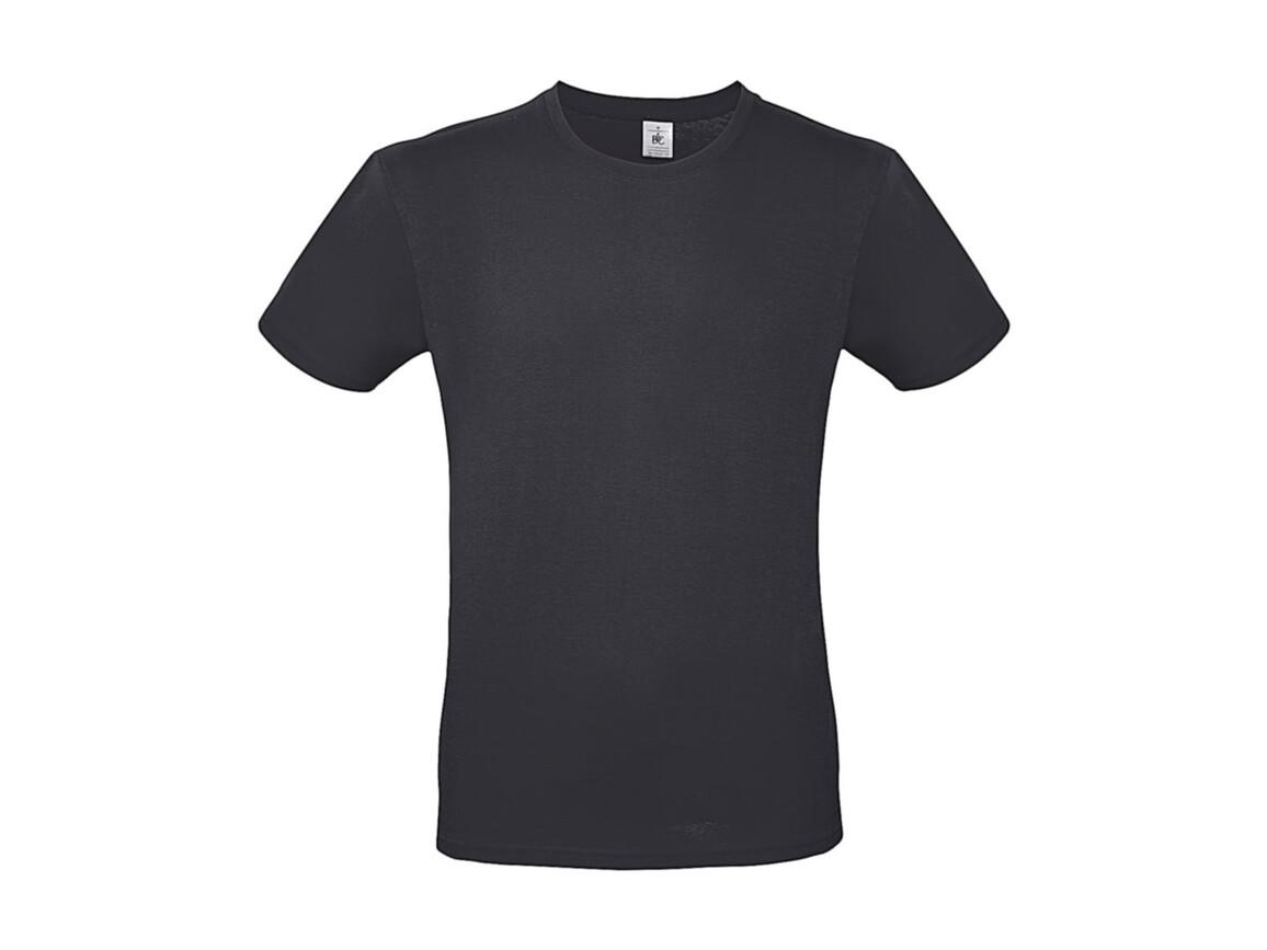 B & C #E150 T-Shirt, Dark Grey, L bedrucken, Art.-Nr. 015421283
