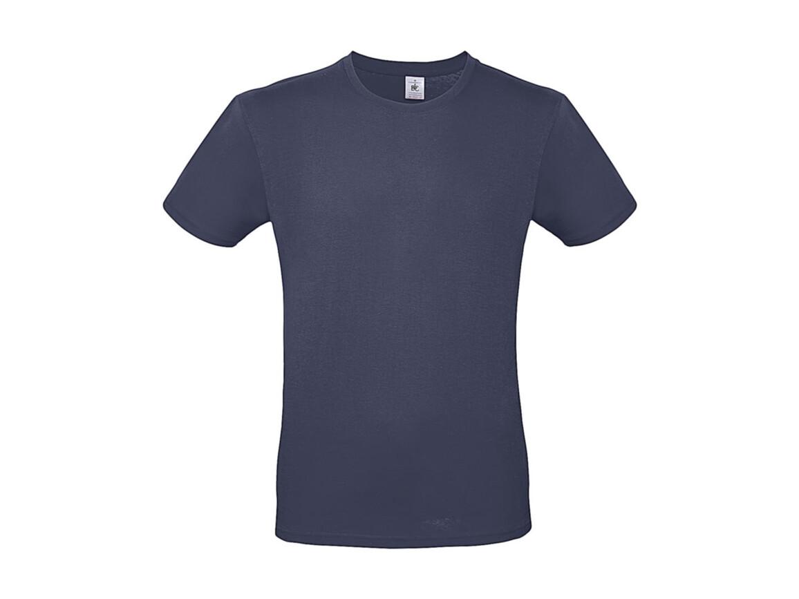 B & C #E150 T-Shirt, Denim, S bedrucken, Art.-Nr. 015423191