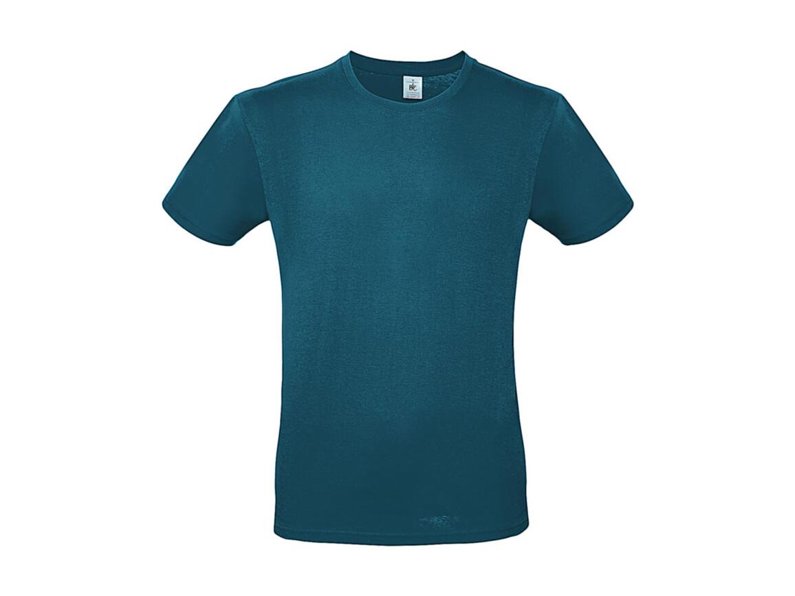 B & C #E150 T-Shirt, Diva Blue, M bedrucken, Art.-Nr. 015423302