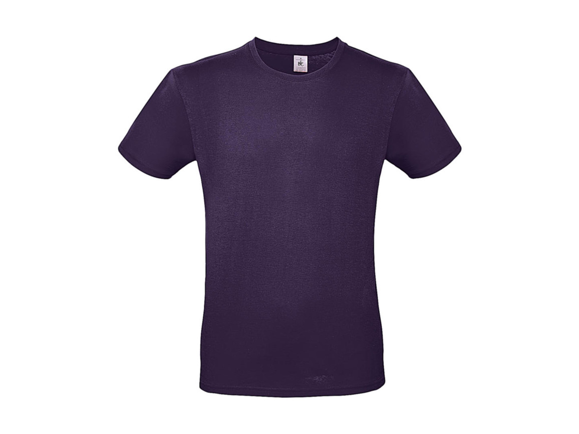 B & C #E150 T-Shirt, Urban Purple, XS bedrucken, Art.-Nr. 015423470