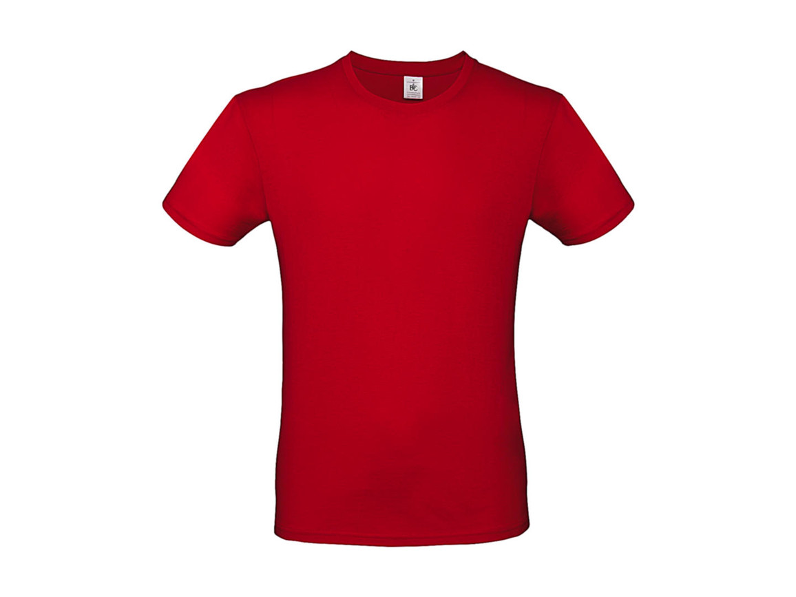 B & C #E150 T-Shirt, Red, M bedrucken, Art.-Nr. 015424002