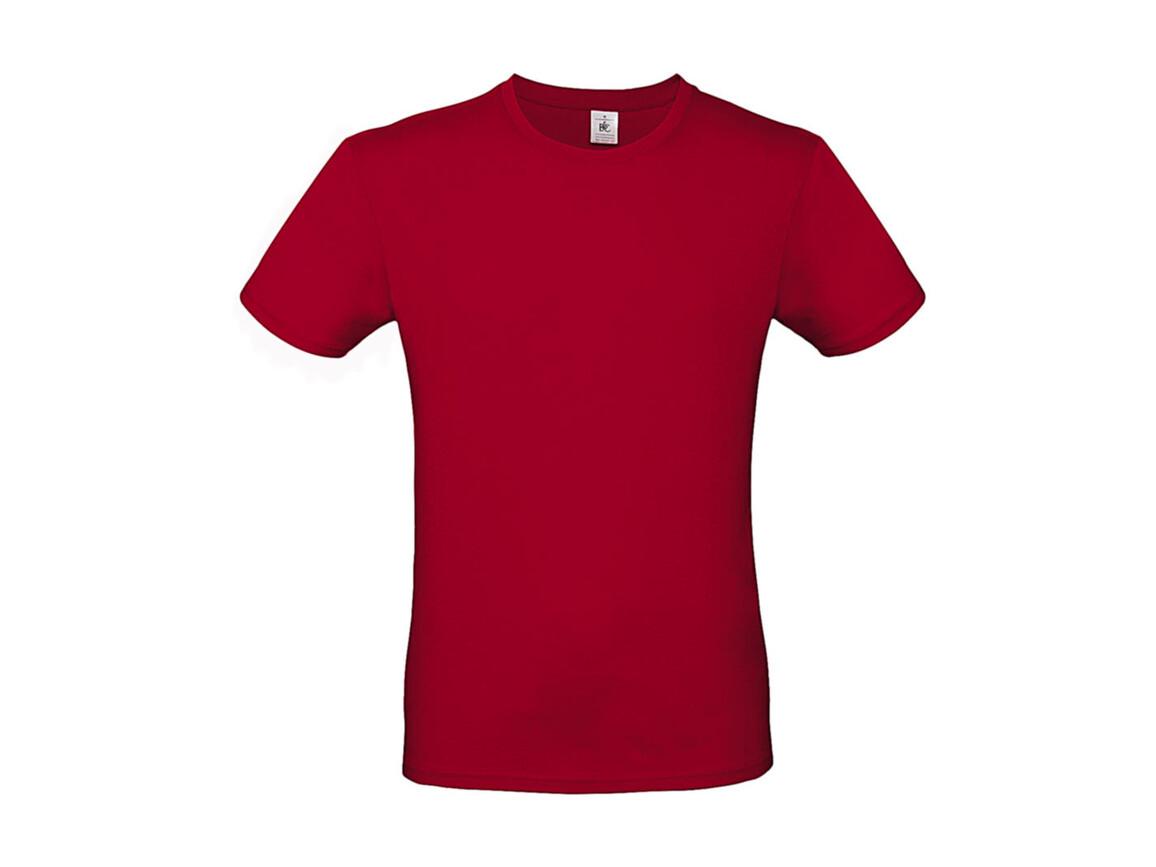 B & C #E150 T-Shirt, Deep Red, S bedrucken, Art.-Nr. 015424061