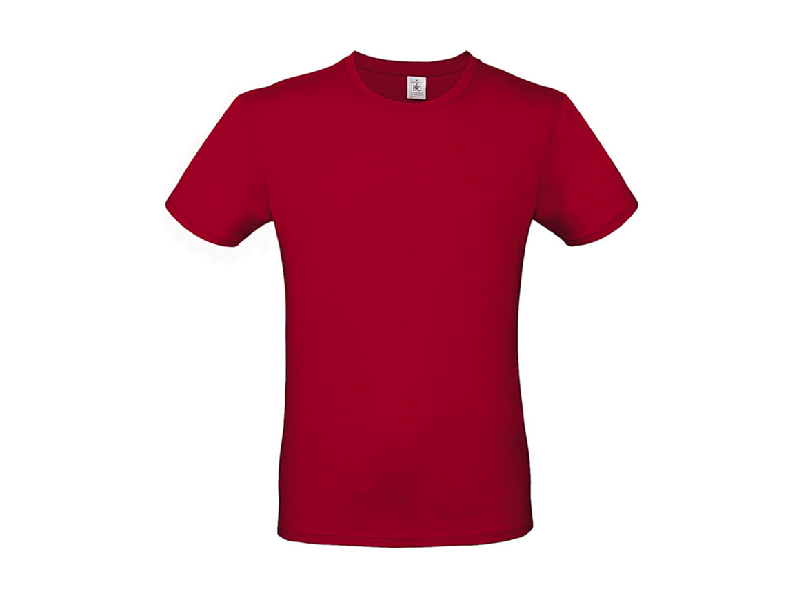 B & C #E150 T-Shirt, Deep Red, XS bedrucken, Art.-Nr. 015424060