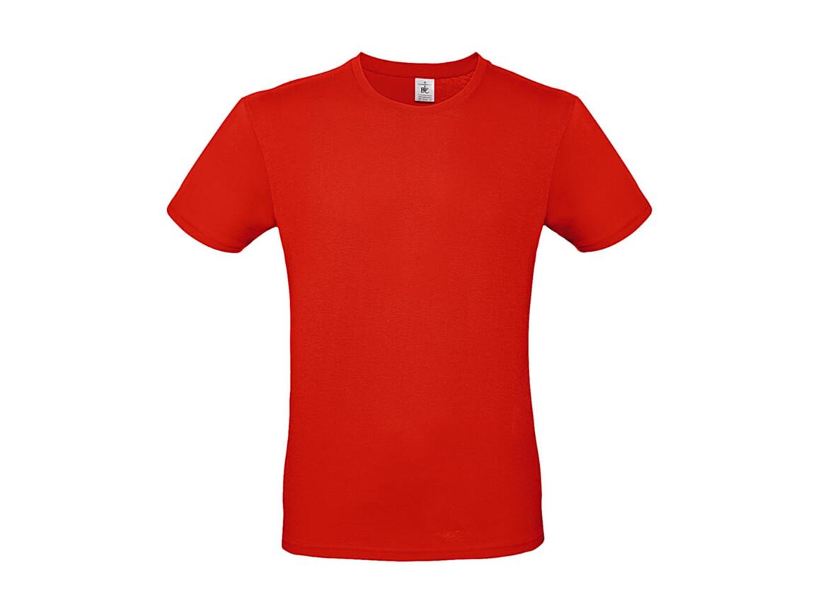 B & C #E150 T-Shirt, Fire Red, L bedrucken, Art.-Nr. 015424073