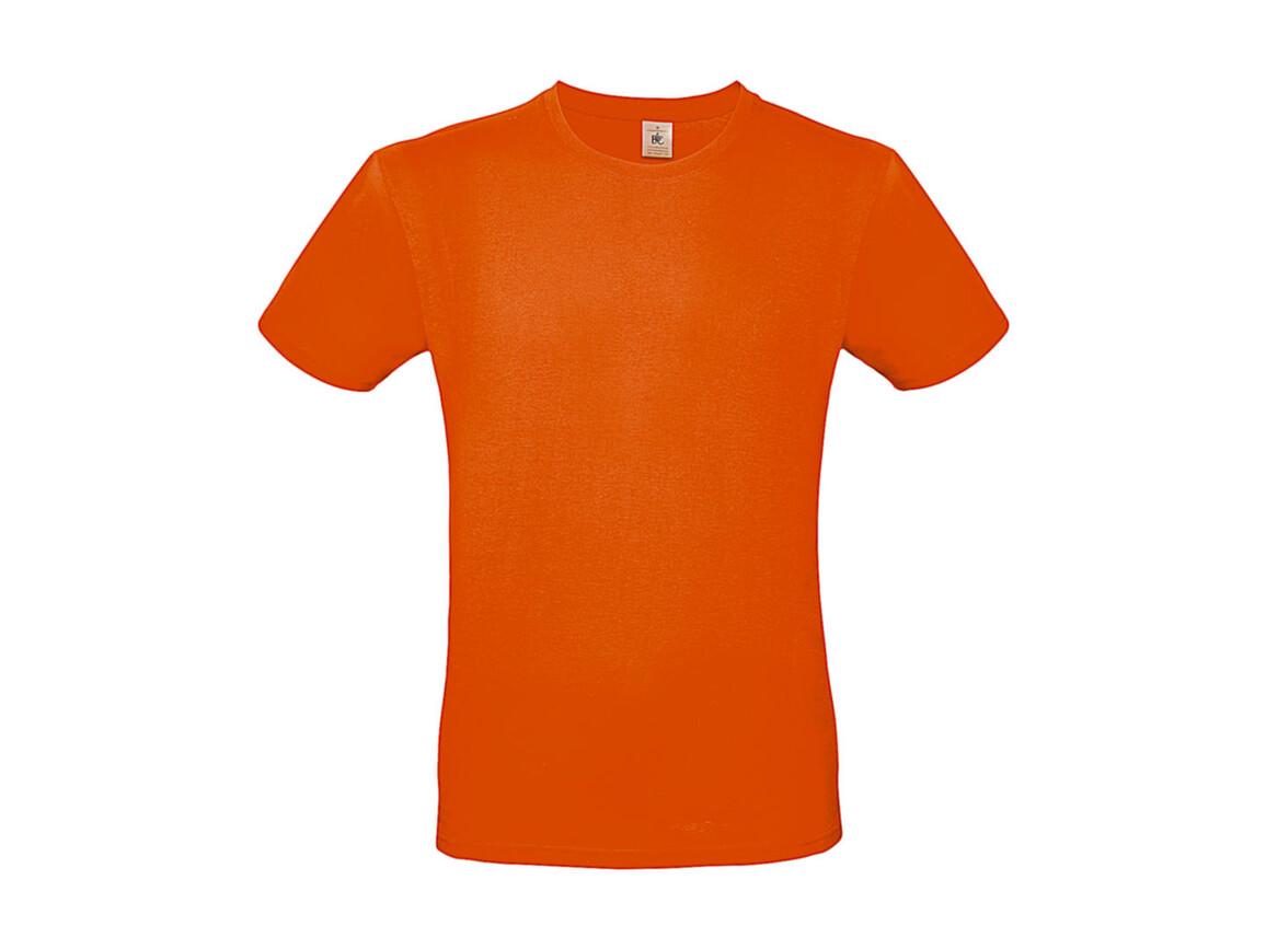 B & C #E150 T-Shirt, Orange, M bedrucken, Art.-Nr. 015424102