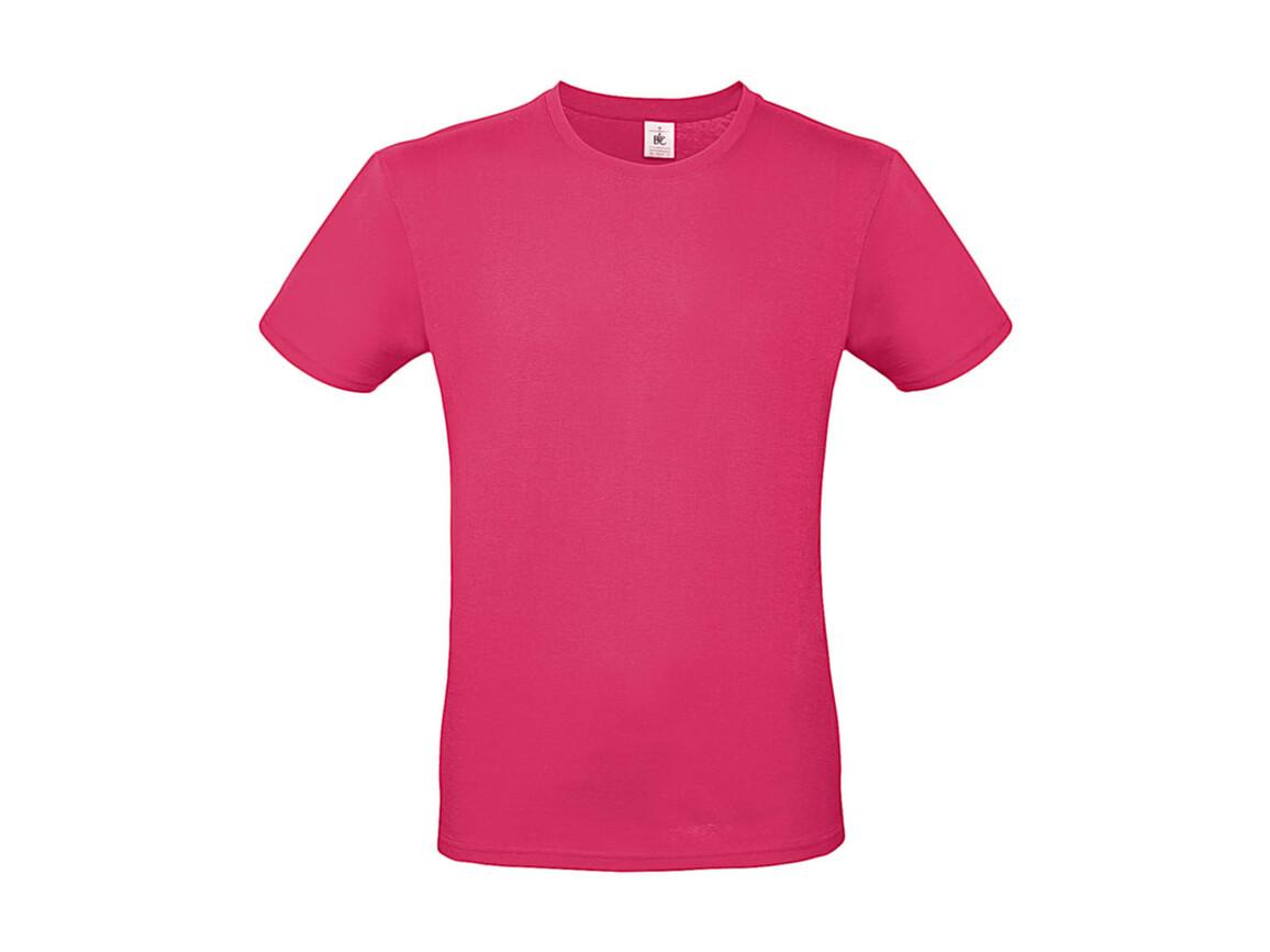B & C #E150 T-Shirt, Fuchsia, XL bedrucken, Art.-Nr. 015424184