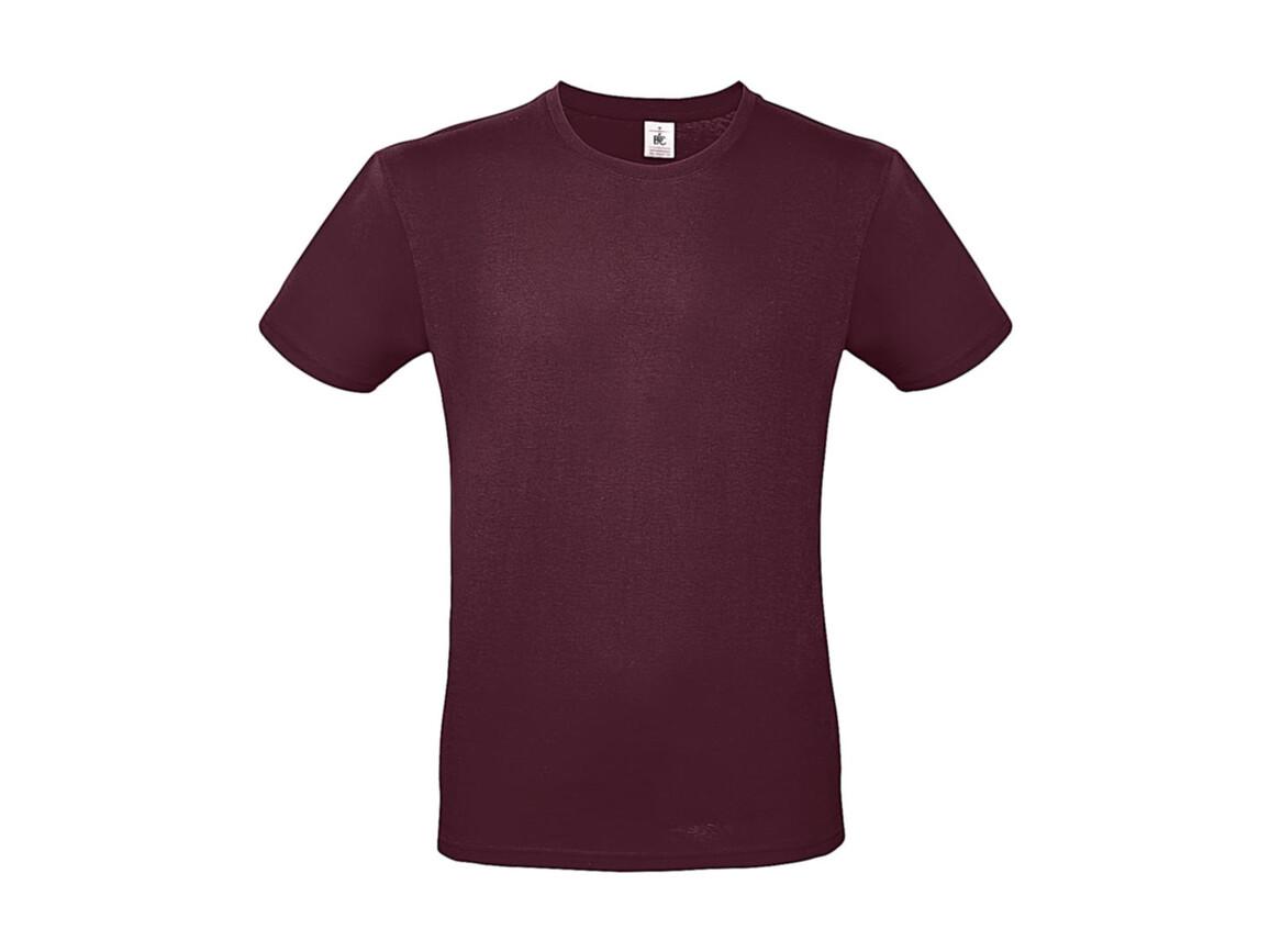 B & C #E150 T-Shirt, Burgundy, XS bedrucken, Art.-Nr. 015424480