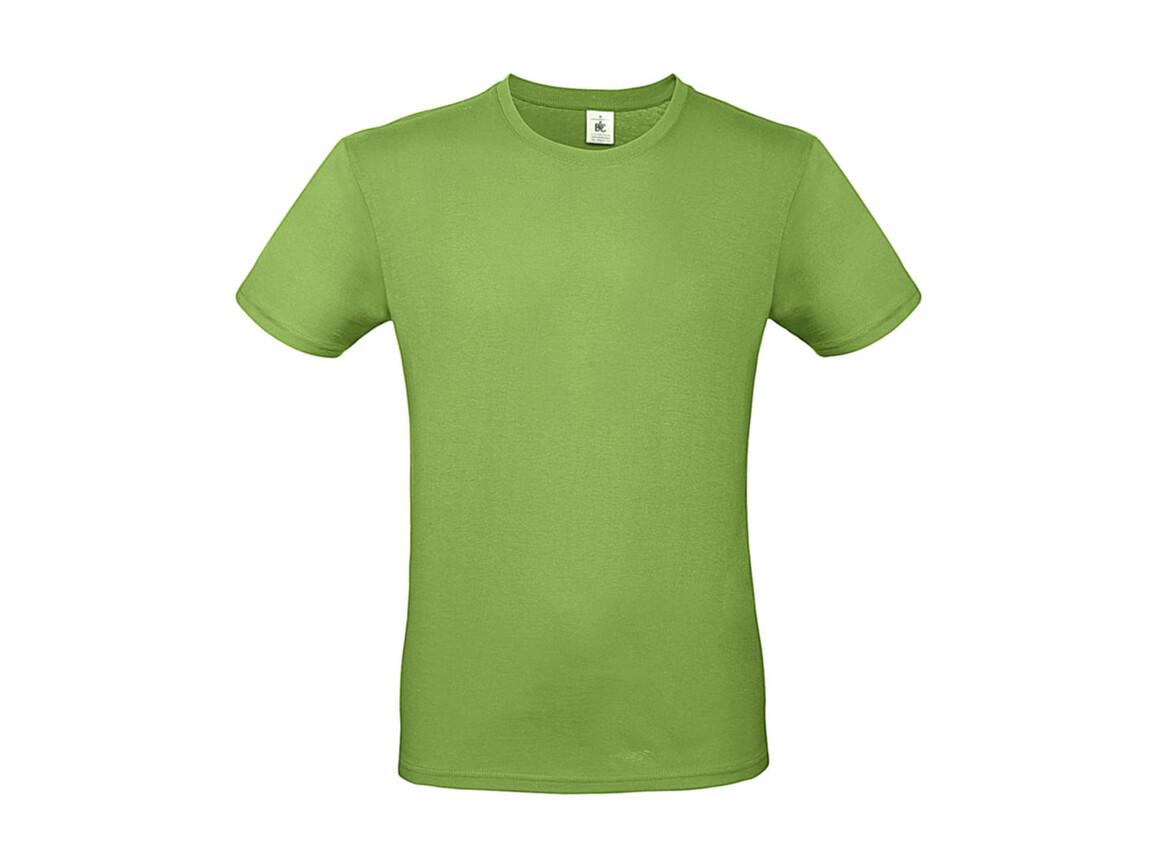 B & C #E150 T-Shirt, Orchid Green, S bedrucken, Art.-Nr. 015425061