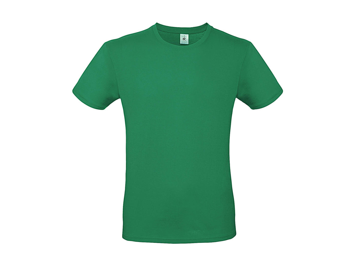 B & C #E150 T-Shirt, Kelly Green, M bedrucken, Art.-Nr. 015425182
