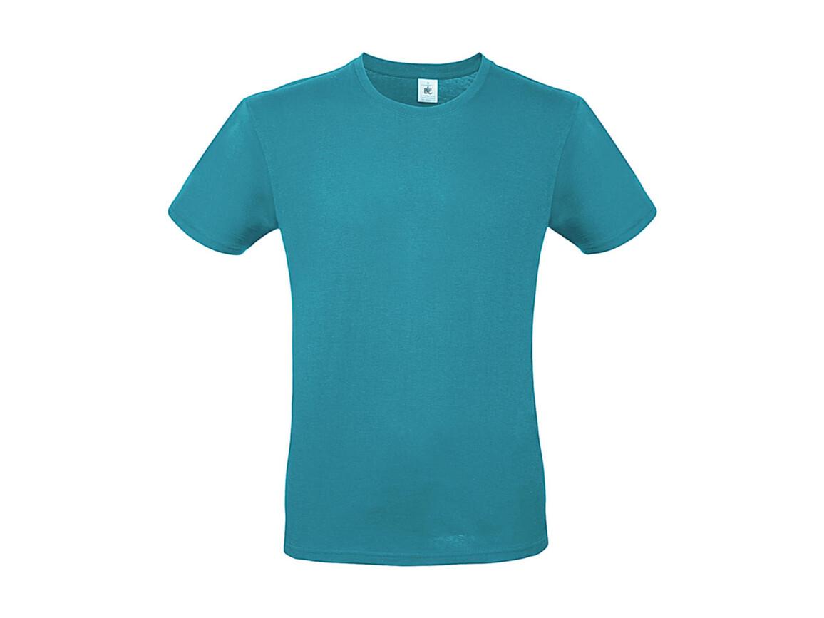 B & C #E150 T-Shirt, Real Turquoise, S bedrucken, Art.-Nr. 015425331