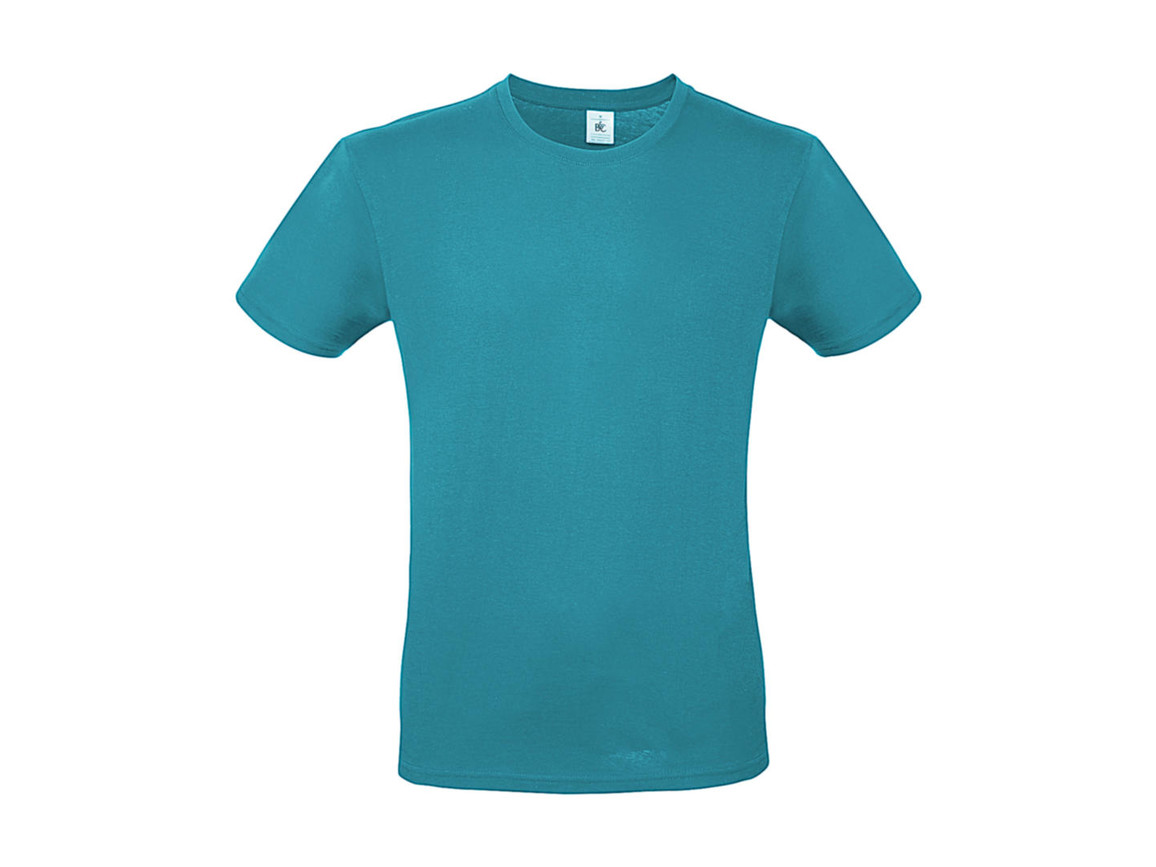 B & C #E150 T-Shirt, Real Turquoise, XL bedrucken, Art.-Nr. 015425334