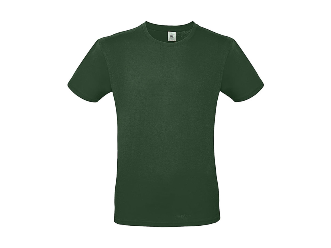B & C #E150 T-Shirt, Bottle Green, L bedrucken, Art.-Nr. 015425403