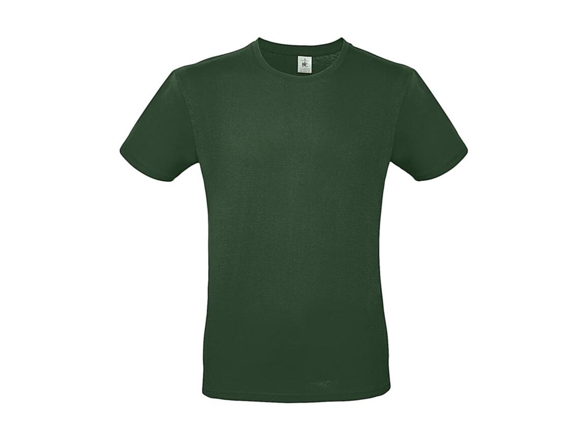 B & C #E150 T-Shirt, Bottle Green, M bedrucken, Art.-Nr. 015425402