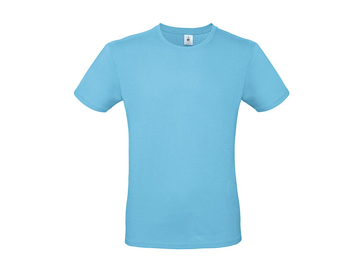 B & C #E150 T-Shirt, Turquoise, M bedrucken, Art.-Nr. 015425432