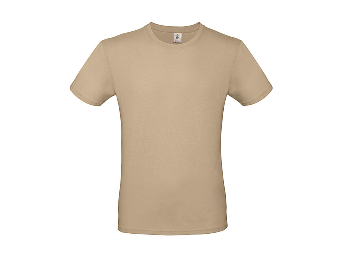 B & C #E150 T-Shirt, Sand, S bedrucken, Art.-Nr. 015427411