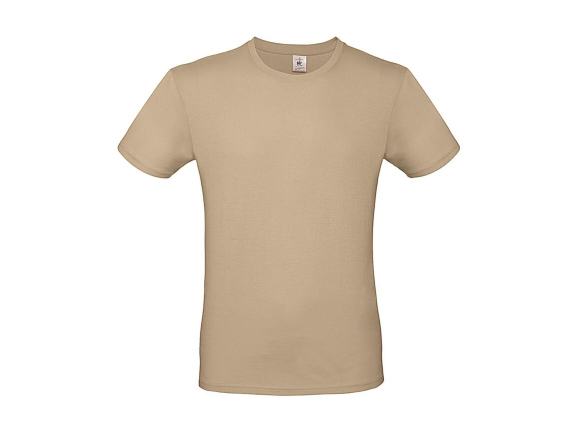 B & C #E150 T-Shirt, Sand, XS bedrucken, Art.-Nr. 015427410