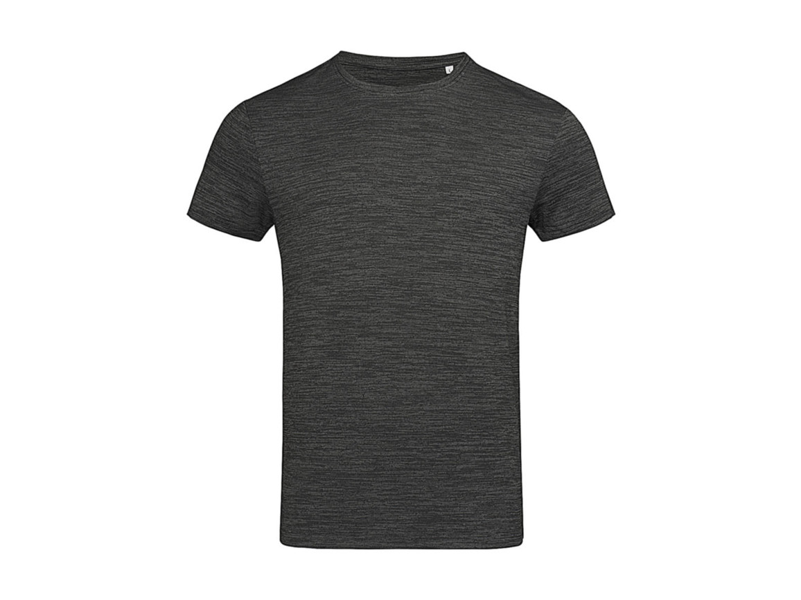 Stedman Active Intense Tech T-Shirt, Anthra Heather, XL bedrucken, Art.-Nr. 016051186
